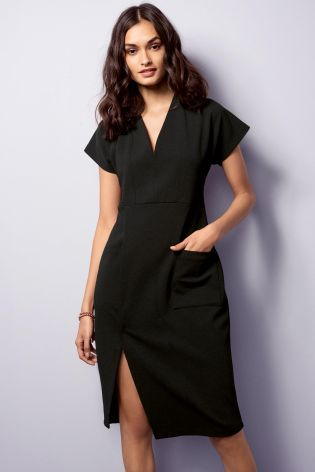 Buy Black Workwear Dress from the Next UK online shop