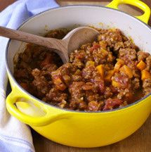 Crockpot chili without beans. Ground beef chili recipe in the slow cooker.