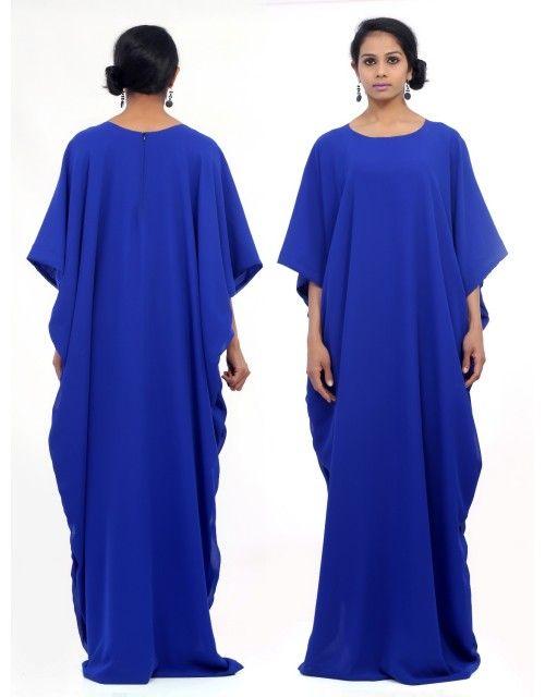 Plain Kaftans - Blue
