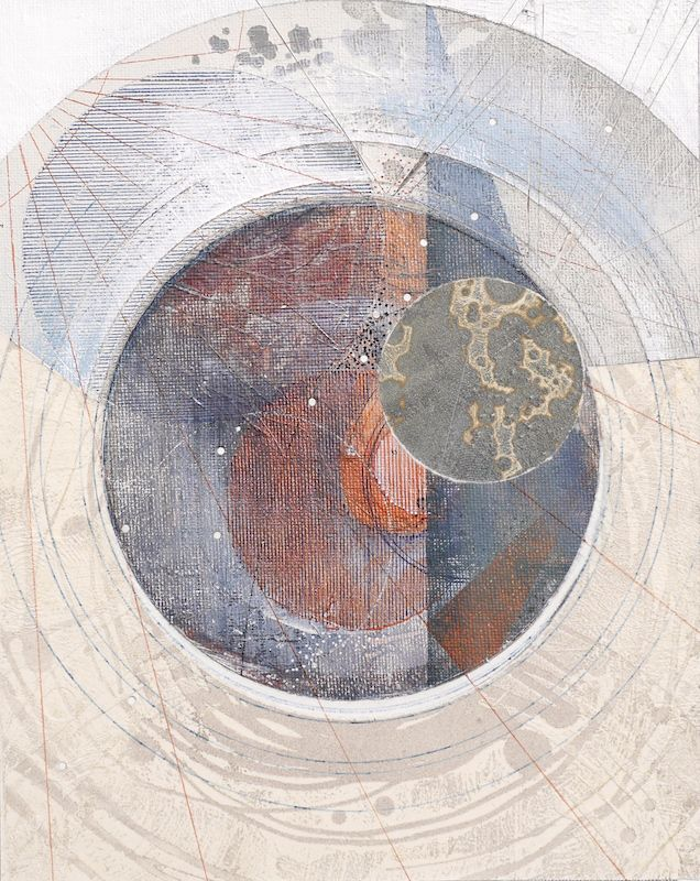 Asterism - 2016 Abstract painting, collage and drawing by Louisa Boyd #art…
