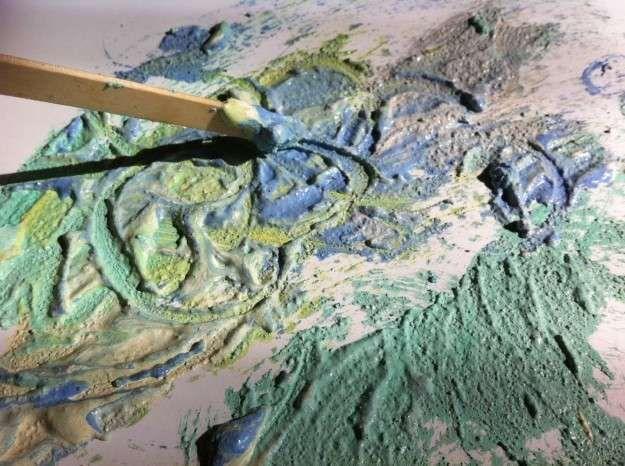 Manualidades con arena: fotos ideas DIY - Mezclar arena de colores