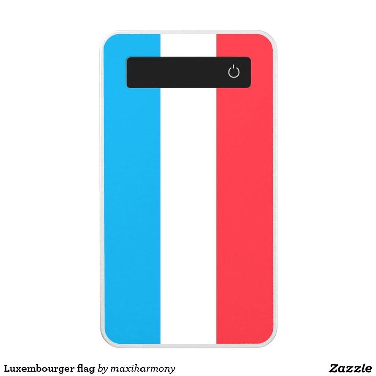 Luxembourger flag power bank