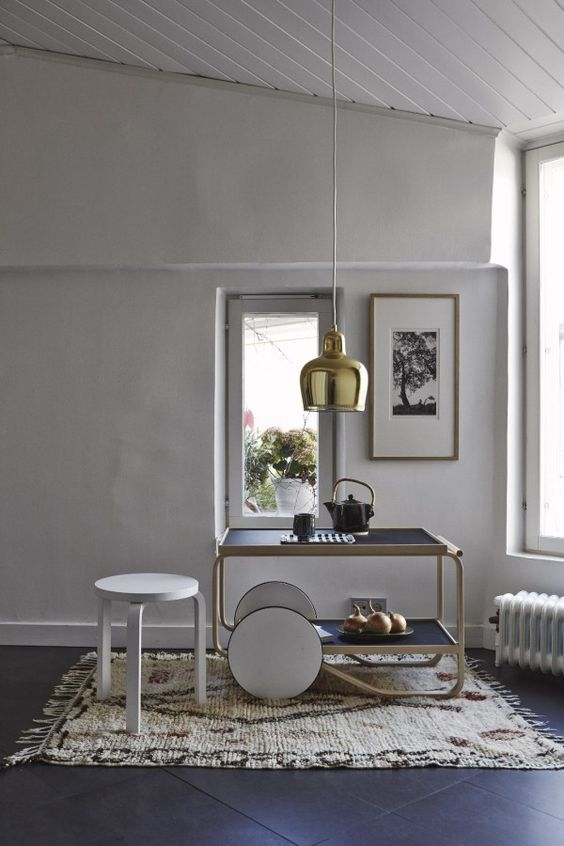 Alvar Aalto 901 trolley & A330S Pendant Light for Artek. Get the look at Utility Design : https://www.utilitydesign.co.uk/artek-a330s-pendant-light