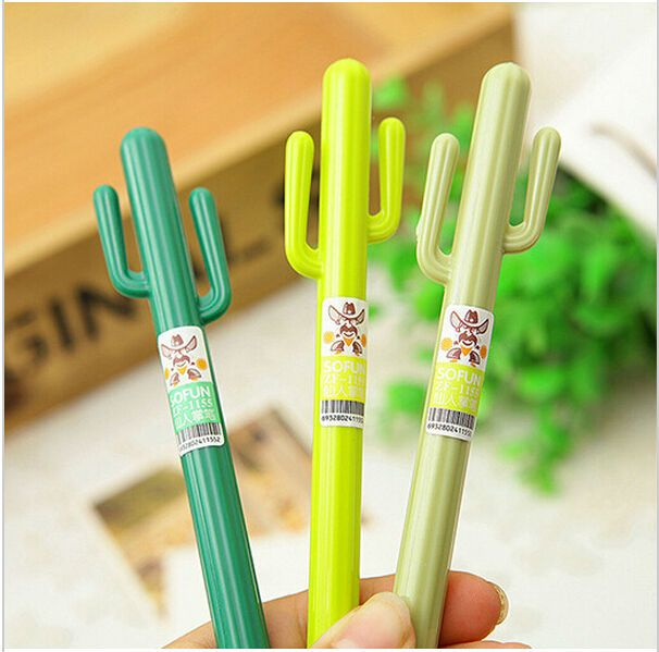 2pcs/lot cute Cactus design Gel pen/Pens, Pencils & Writing Supplies/Fashion Gift /Office & School Supplies WJ0193-in Gel Pens from Office & School Supplies on Aliexpress.com | Alibaba Group