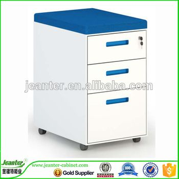 three drawer mobile pedestal cabinet movable metal tool cabinet