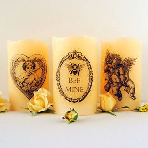 Amazing tutorial for DIY printed candles using tissue paper and a hairdryer!