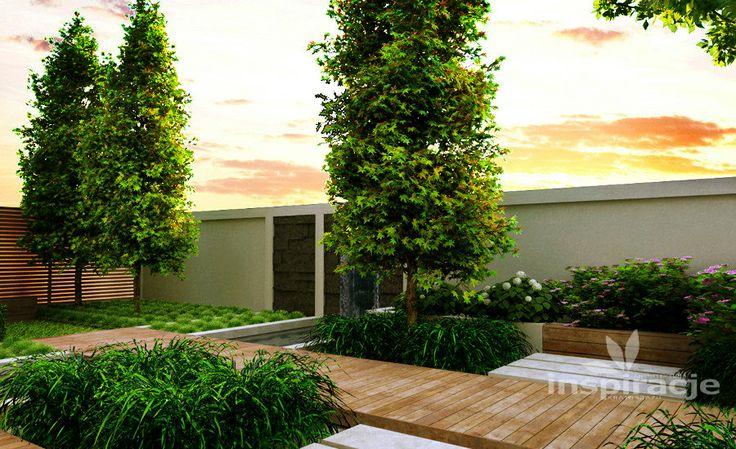 Nowoczesny ogród wodny - Inspiracje - ogrody wodne, ogrody nowoczesne