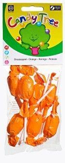 LIZAKI OKRĄGŁE POMARAŃCZOWE BEZGLUTENOWE BIO (7 x 10 g) - CANDY TRE zdrowe lizaki dla dzieci bio żywność w biotojestto.pl