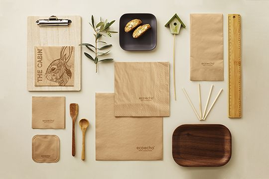Every ecoecho® product has an eco-consious story to tell. Compostable, FSC-certified and fully traceable.