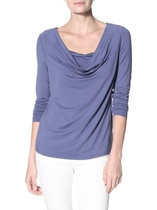 86% OFF Cullen Women's Drape Neck Top (Manor Blue)