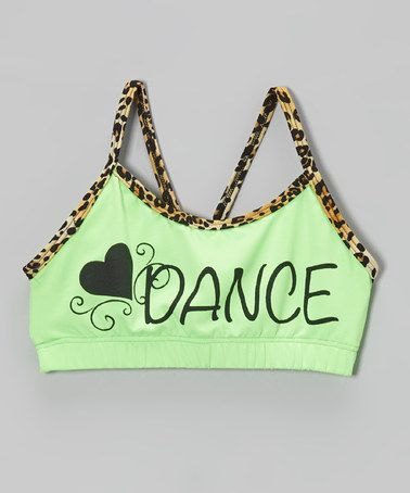Another great find on #zulily! Lime 'Dance' Sports Bra - Girls by Ferreira #zulilyfinds