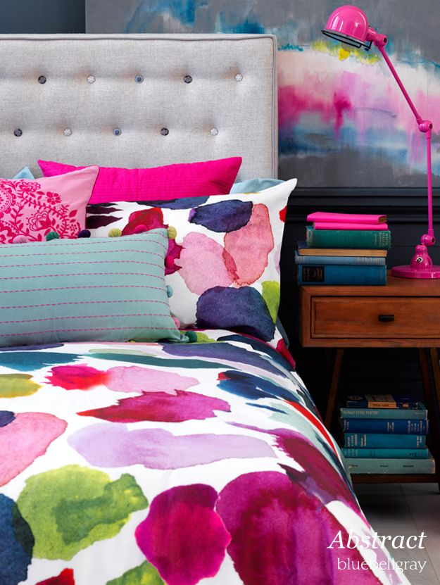 bluebellgray  | Bedding collection launch. Abstract collection.  Love this bedding #AnthropologieEU #PinToWin