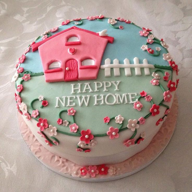 Cake Decorations New Home : 25+ best ideas about House cake on Pinterest Simple ...