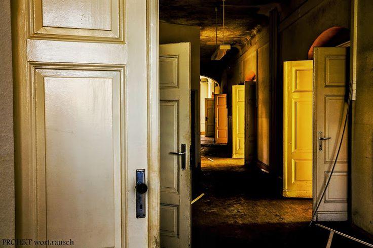 M. Schuetze - Abandoned psychiatric institution in Germany Verlassene Psychiatrie in Deutschland   Im Gleichmut der Schatten von Türen ein Geraune von spärlichem Licht es hält sich versteckt im Metronom deiner Stunden.......