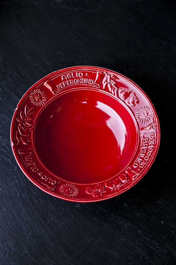 Osteria Red Authentic Italian Pasta Bowl - €21.00 http://www.dishesonly.com/products/osteria-pasta-bowl-set