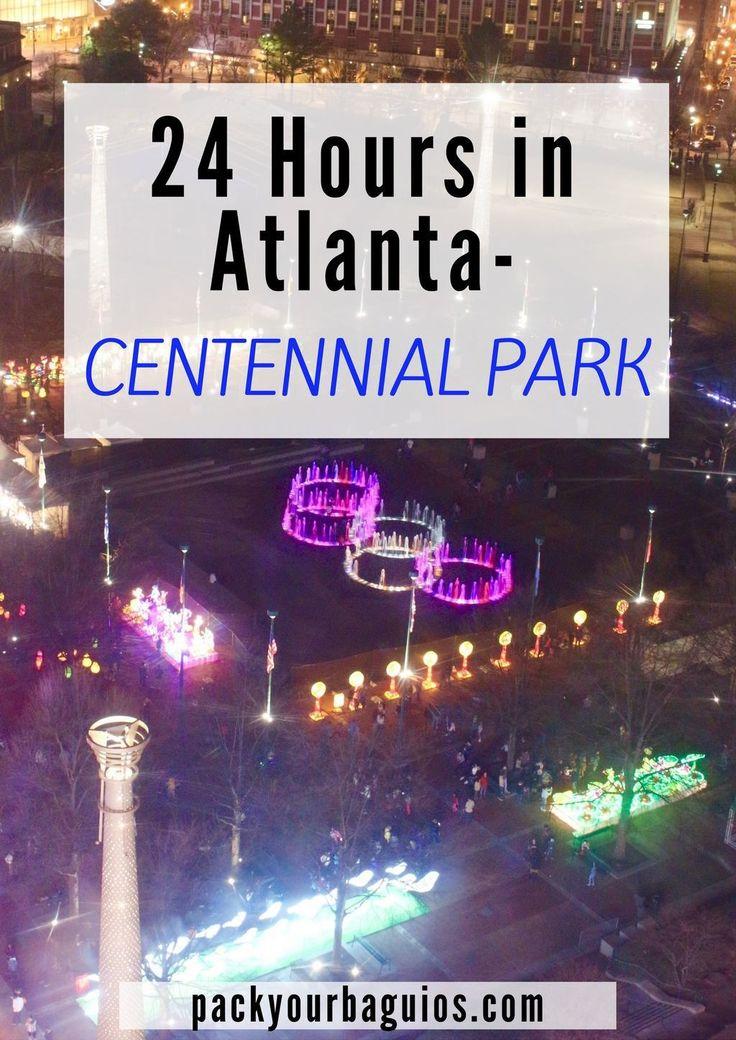 24 Hours in Atlanta | Olympic Centennial Park | Georgia | World of Coca-cola | Georgia Aquarium | CNN Studio Tour | Ferris Wheel