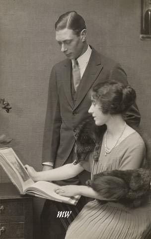 The engagement portrait of Prince Albert and Lady Elizabeth Bowes-Lyon.