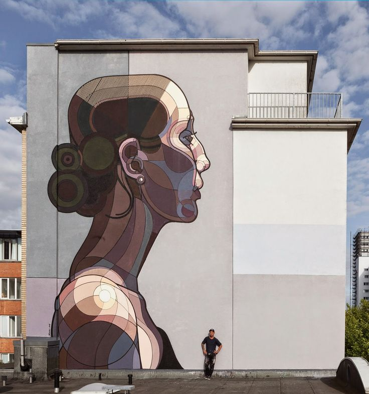 "Ata Bozaci paints ""Beautiful Facebook"" for Stamp Festival - Hamburg, Germany"