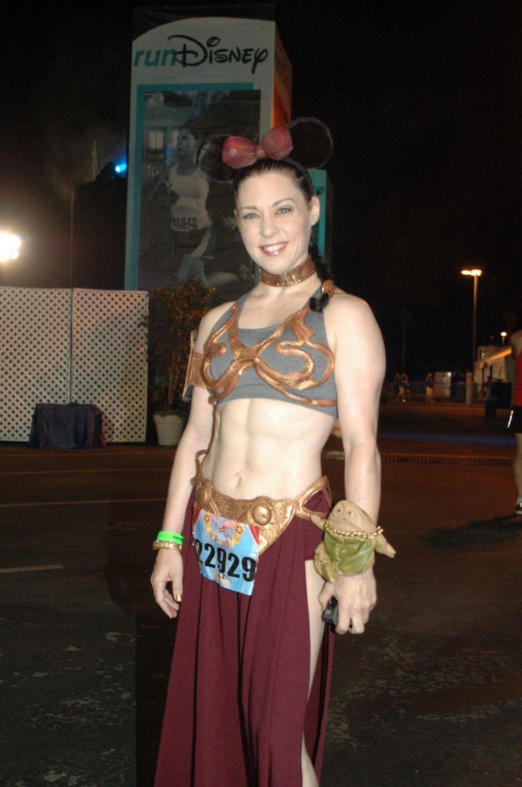 Slave Leia running costume for the Disneyland Half Marathon 2013