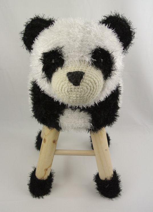 Dieren kruk Panda Haakpret