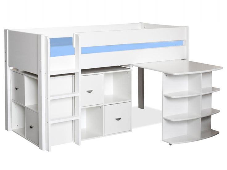 Stompa Uno 3 White Mid Sleeper   Kids Beds From FADS