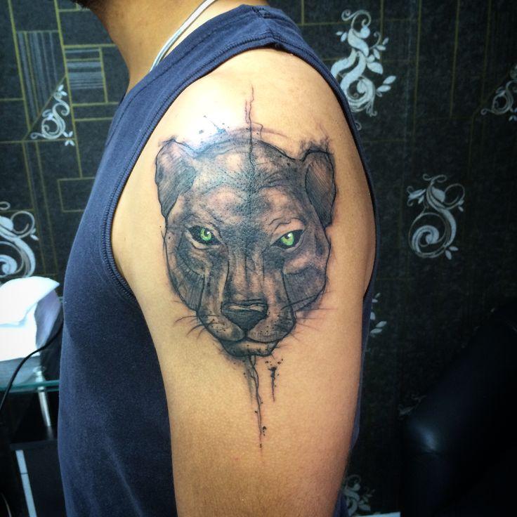Black Panther / pantera tattoo By @dn_alves    Daniel R Alves São Paulo/BR
