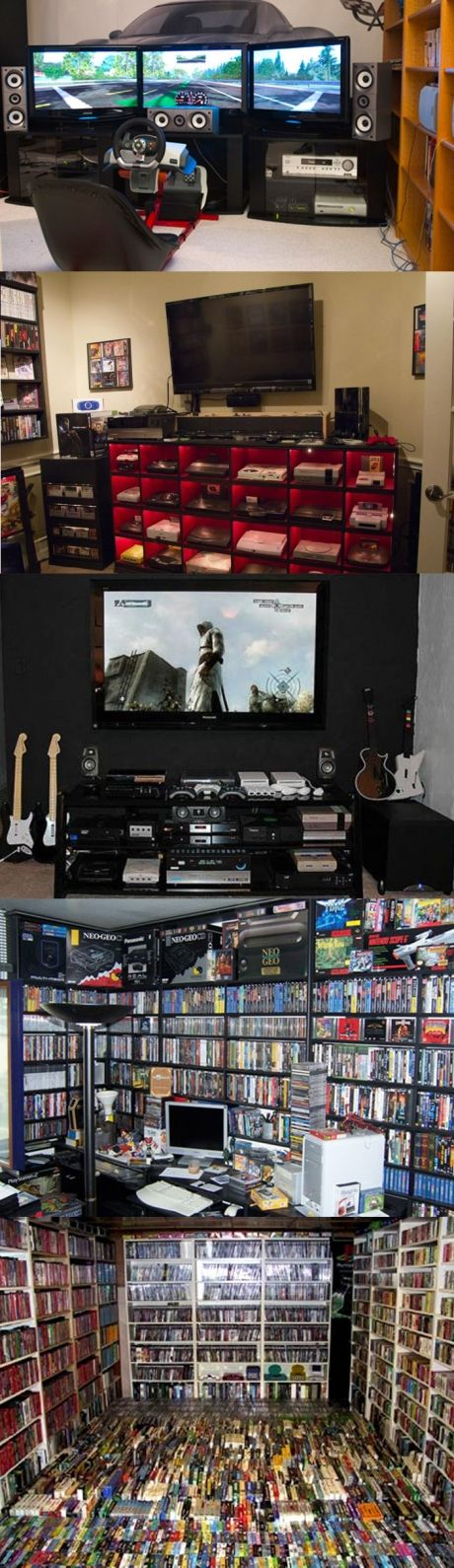The most amazing gaming setups and collections you'll ever see (via: http://gamewise.co/brainwaves/366/The-most-amazing-gaming-setups-and-collections-youll-ever-see)