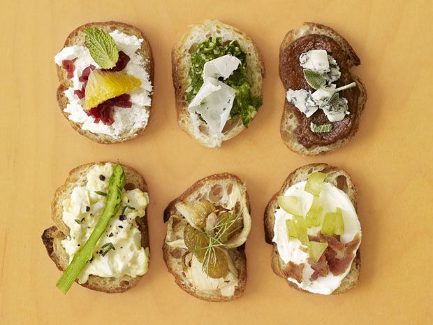 50 Easy Toast Toppers : Food Network - Find 50 ideas for quick and easy toast toppers from Food Network Magazine.