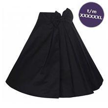 Noreen wijde rok met strik zwart - Vintage, 50's, Rockabilly