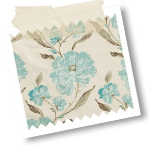 Eternal Eau De Nil - This elegant floral design oozes luxury and style and is guaranteed to add a touch of glamour to your home, often hard to achieve with an inexpensive curtain fabric.      Sumptuous duckegg- blue and aqua blooms burst from taupe stems and leaves on an ivory faux-silk background. Currently in vogue, the subtle colours that this clever print has been executed in, offers the more cautious 'interior decorators' among you, the opportunity to introduce bold florals into your…