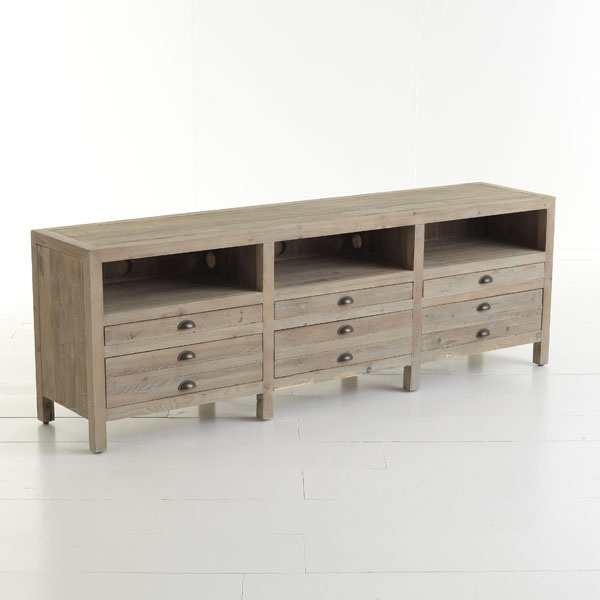 Reclaimed Pine Entertainment Console Console Table :)