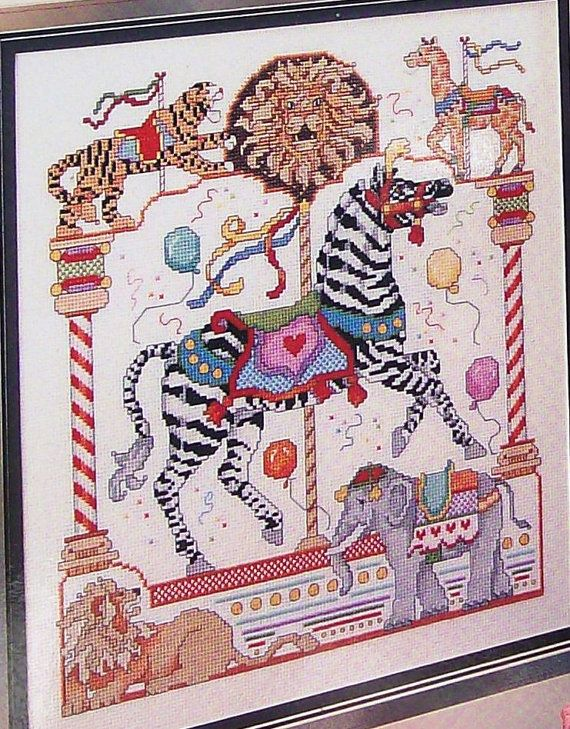 Donna Kooler Carousel Horse Cross Stitch for September.  I've made it, it's gorgeous!!