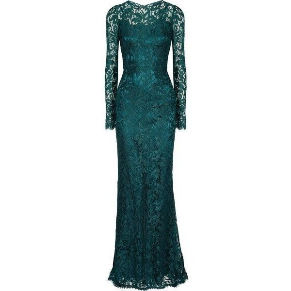 Зеленые Кружева ❤ liked on Polyvore featuring dresses, long dress, long blue dress, long lace dress, sequin lace dress, dolce gabbana dress and long dresses