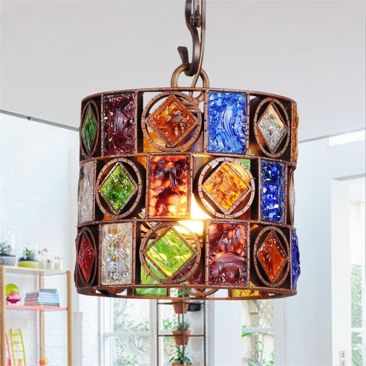 ペンダントライト 天井照明 照明器具 リビング照明 彩色瑠璃照明 1灯1046-lt-HP105