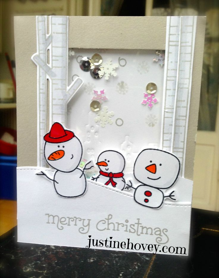 12 Days of Christmas *Bonus Day 2* Shaker Card and Embossing with dies