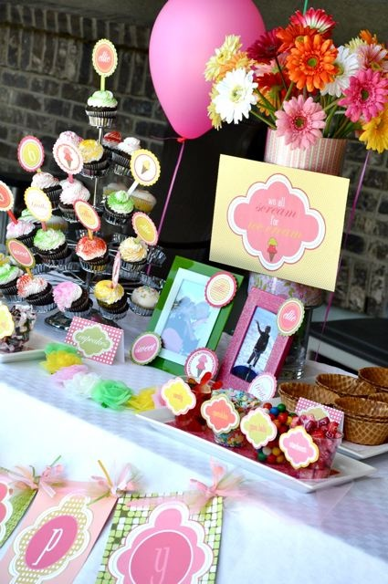 ice cream swim birthday party | | Kara's Party IdeasKara's Party Ideas