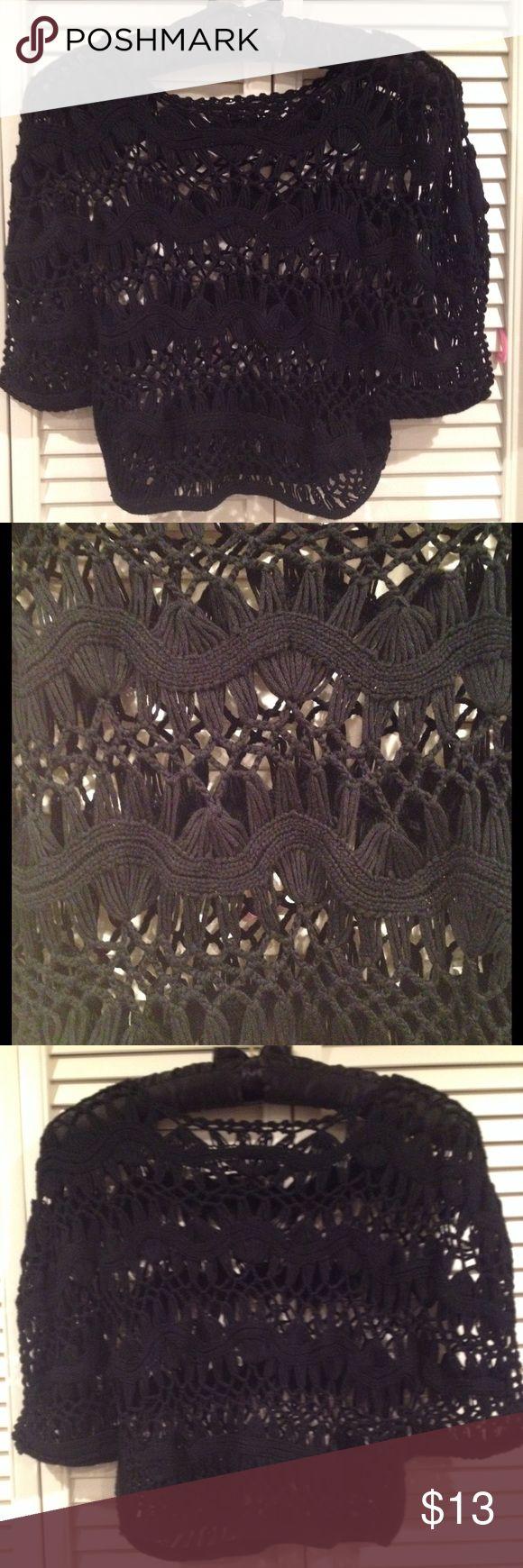 Black crochet top Black crochet top. Good shape. No major issues. Tops