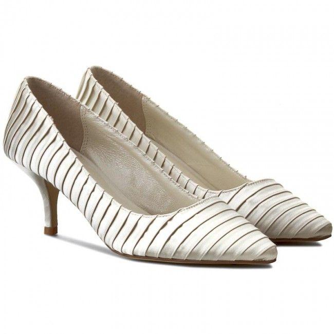 Pantofi cu toc subțire MENBUR - 005108 Ivory/Marfil 004
