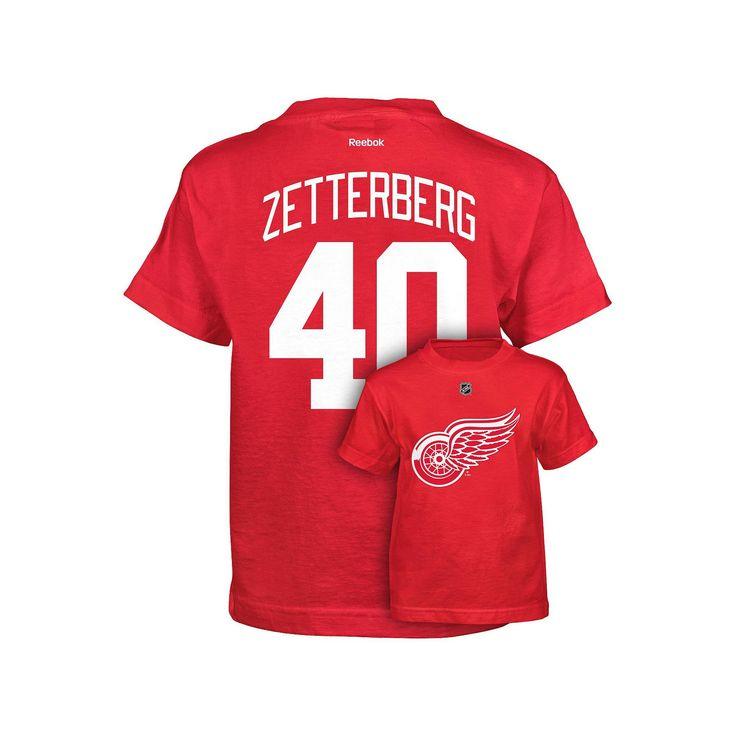 53df73fbd ... Authentic Player Jersey Boys 8-20 Reebok Detroit Red Wings Henrik  Zetterberg Premier Tee