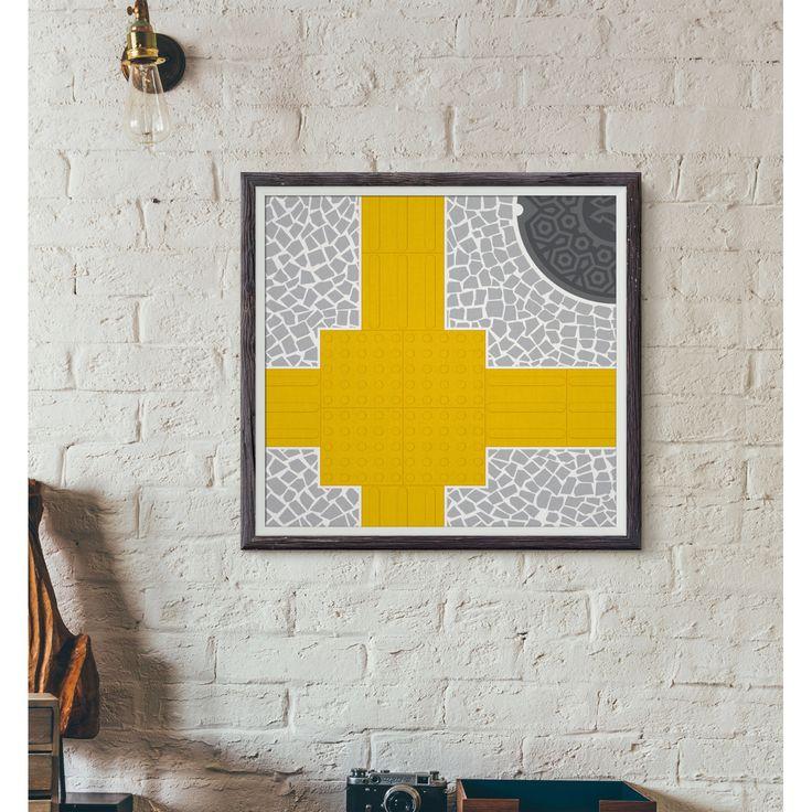 Quadro série limitada Calçadas de SP. #nousdesign #pablonous #graphicdesign #poster #print