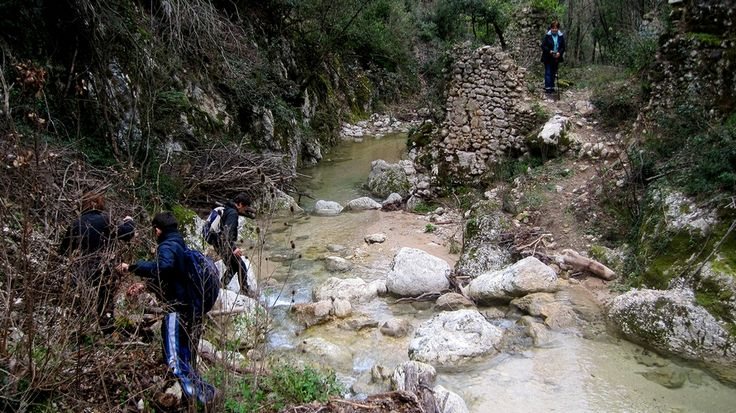 Ancient water #mills on the Galantina stream, in a very inaccessible area!