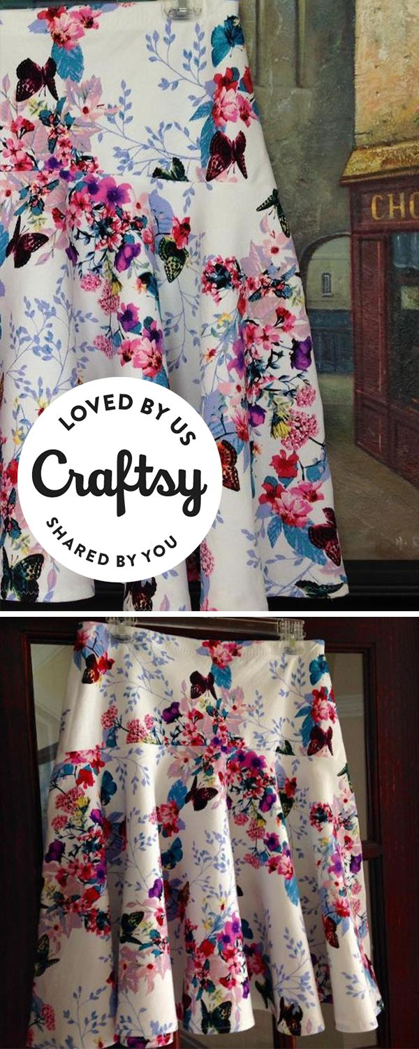 This handmade skirt is perfect for the coming summer weather. Not to mention the print is to die for! Guess what? It's sewn by a maker just like you! Click to ask questions, show the project some love and even find out which Craftsy pattern they used to make it.