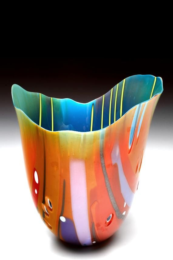 Chroma Drop by Janet Wittenberg of Bethesda, Maryland. Category: Glass- Cast, Slumped, Fused #artglass, #glass