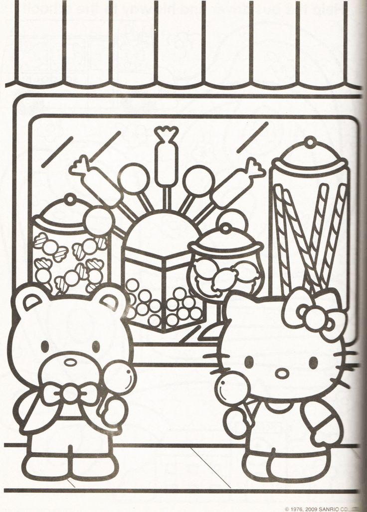514 Best Hello Kitty Coloring Pages Printables Images On Pinterest