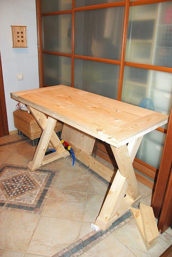 Обеденный стол с Х-образными ножками своими руками.