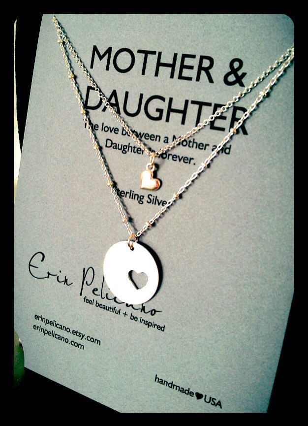Mother+Daughter+Jewelry.+Inspirational+Gift.+Mom+by+erinpelicano,+$85.00