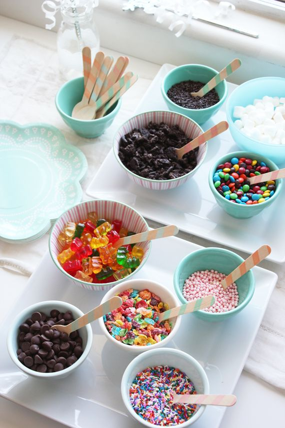 Ice Cream Bar for a Frozen Birthday Party