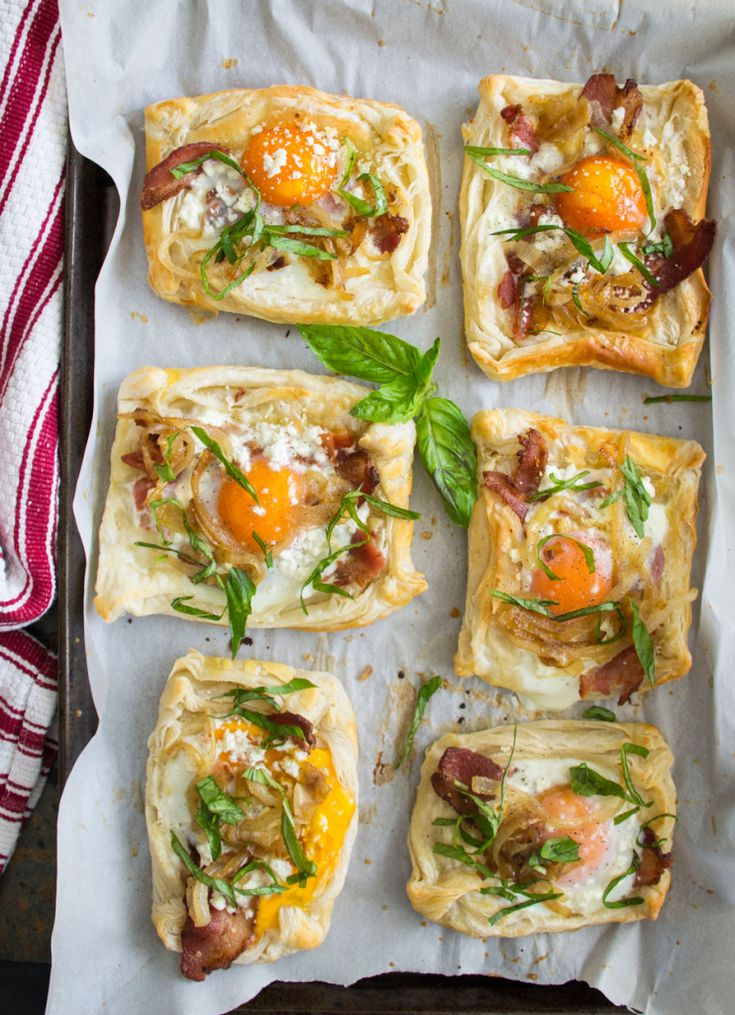 Bacon, Egg and Goat Cheese Breakfast Pastries