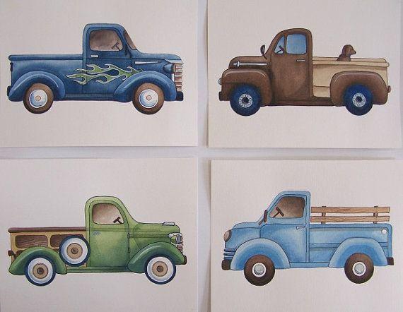 Etsy seller theprincessandpea - other transportation prints including firetrucks and race cars.