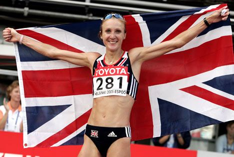 Marathon-world-record holder Paula Radcliffe in 2005